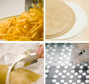 Cheese, tortilla, bakery & specialty product ingredient blending